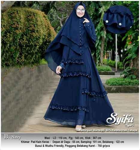 Gamis Syar I Syifa jual gamis polos cantik bahan ceruti wa 0821 1223 5665