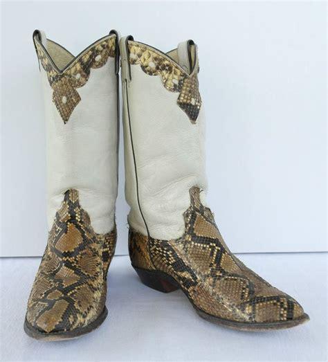 genuine python snakeskin cowboy boots s size 8 5