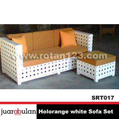 Jual Sofa Chandra Karya harga jual holorange white sofa set sofa rotan sintetis