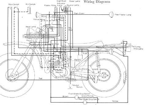 yamaha dt 100 dt175 enduro motorcycle wiring