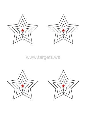 printable star targets star targets various targets with various numbers and