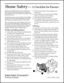 home safety checklist home safety a checklist for parents