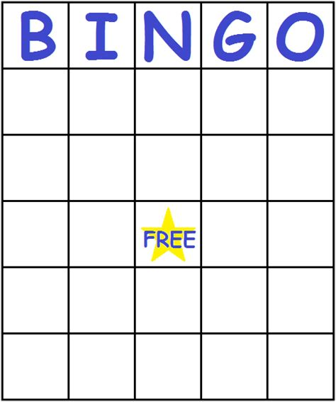 bingo template word blue bingo cards printfreegames