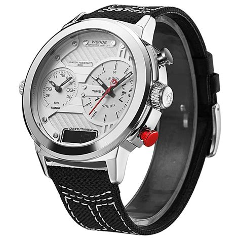 Special Price Weide Jam Tangan Analog Wh6405 1 new by weide wh 6405 time zone quartz band