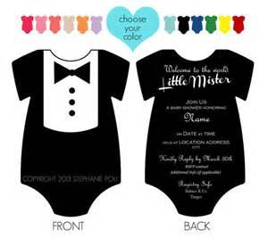 customized dapper tuxedo onesie baby shower by