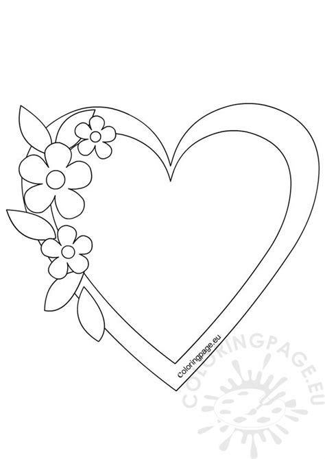 heart template coloring page heart frame template coloring page