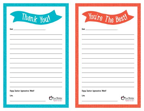 teacher thank you letter 8 free sample example format free