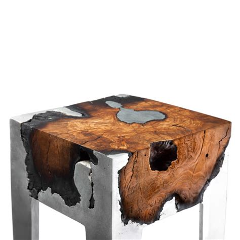 Burnt Wood Furniture by Hilla Shamia Cast Metal Burnt Wood Furniture Touch