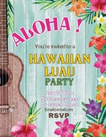 Customize 13 160 Party Flyer Templates Postermywall Free Hawaiian Luau Flyer Template