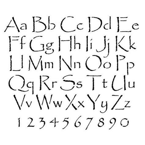 printable rustic letter stencils 11 best images about stencils letters on pinterest fonts