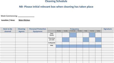 schedule template free premium templates