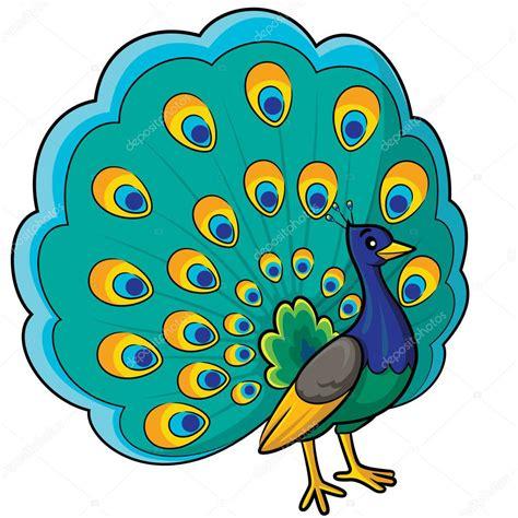 imajenes de dibujo de pavo real para bordar dibujos animados de pavo real vector de stock 51953097