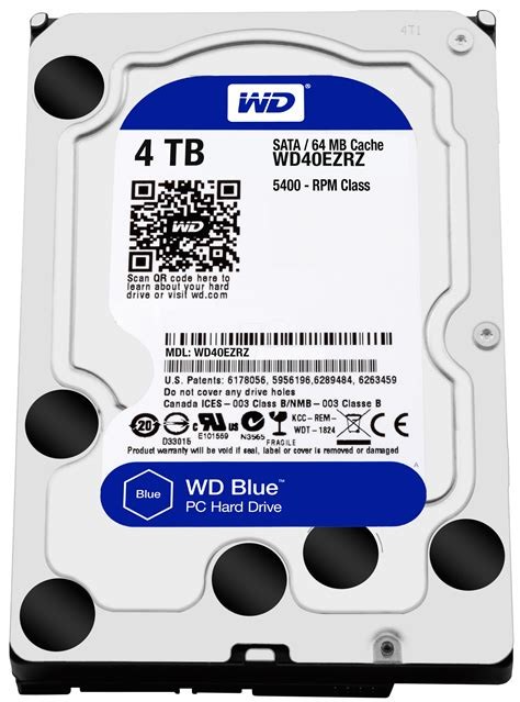 Harddisk 3 5 Wdc 2 Tb Sata Purple For Cctv Ga Murah wd40ezrz wd blue 3 5 quot pc drive with 4 194 tb at