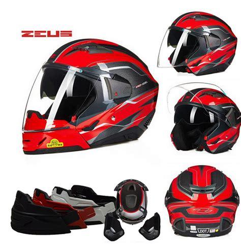 Helm Zeus Modular dot zeus zs 611e modular half motocross helmet motorcycle moto electric motorbike
