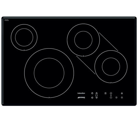 electric induction or ceramic hob smeg si3842b electric hobs in black