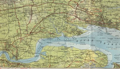thames river fishing map image gallery estuary map