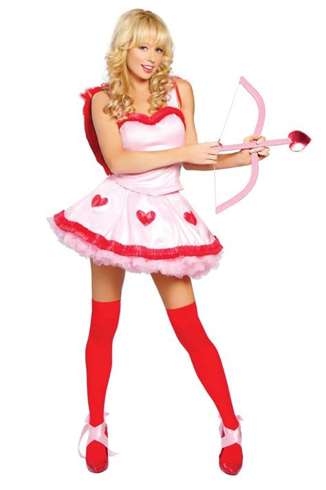 valentines costume shop cupid pink fancy dress costume womens