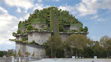 nhow hotel   built  roof  hamburg air raid shelter