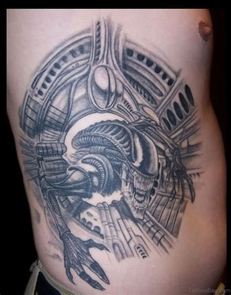 biomechanical tattoo rib cage 50 rare biomechanical tattoos for rib