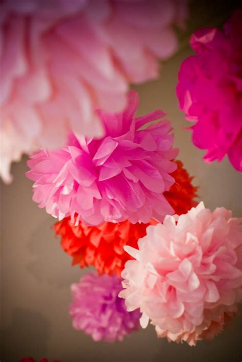 Handmade Tissue Flowers - baltimore etsy team handmade tissue paper flowers