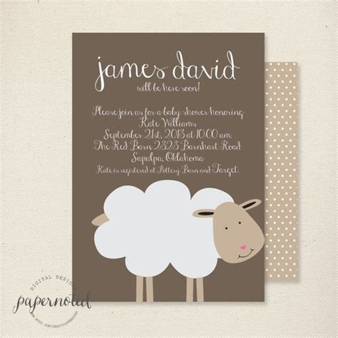 Items Similar To Sheep Baby S Er  Ee  Invitation Ee   Baby