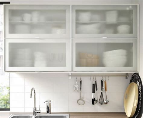 ikea glass kitchen cabinets metod wandschr 228 nke horizontal in wei 223 mit 2 jutis