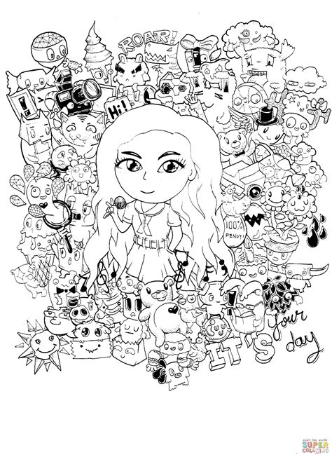 deb s doodle do coloring book two books gorgeous doodle by kent sunglao coloring page free