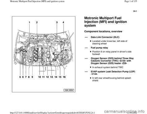 car engine manuals 2000 audi a4 parking system audi a4 2000 b5 1 g aeb engine motronic mfi and ignition system