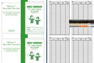 contoh format buku tabungan simple untuk tk paud tukang
