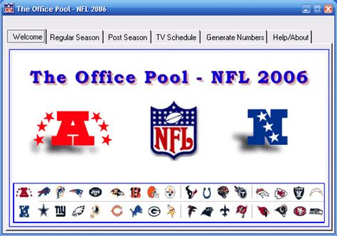 Office Football Pool Manager Nfl Office Pool 2 0 0 5