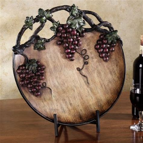 grape home decor grape harvest charger plate port home decor pinterest