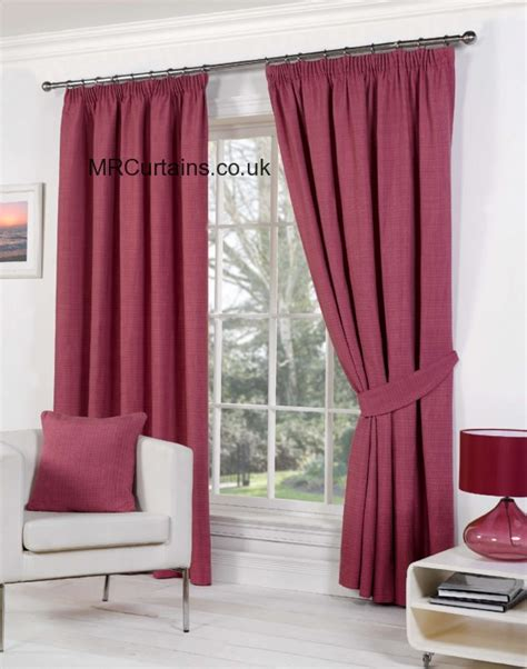 raspberry red curtains sundour rome pencil pleat curtain from 163 24 64 in raspberry