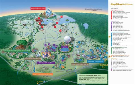 disney resort map map of walt disney world resort wdwinfo
