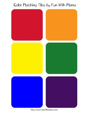 color coordinated color match tiles printable with