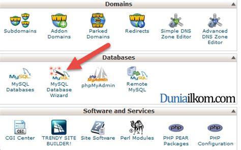 cara membuat database mysql menjadi online cara membuat database mysql di cpanel web hosting duniailkom