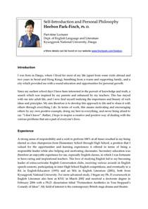 Best Resume Intro by Self Introduction Letter And Personal Philosophy Example