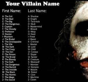 cool names for your house your villan name character name generators your meme