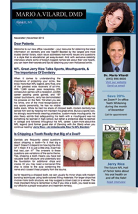 Patient Education Newsletter Dear Doctor Dental Marketing And Patient Education Magazine