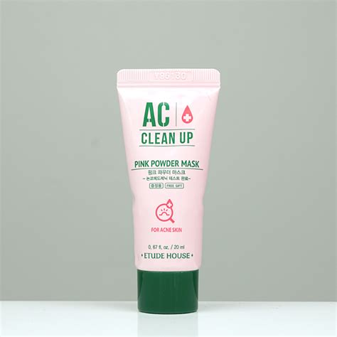 Etude Ac Clean Up etude house ac clean up pink powder spot set review