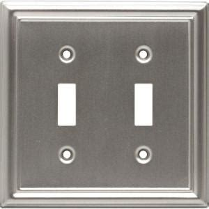 Faux Brushed Nickel Paint - ge 2 toggle steel switch wall plate faux brushed nickel 40309 the home depot