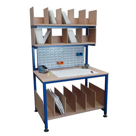 warehouse packing benches packing station fully welded 1800mm x 600mm packing