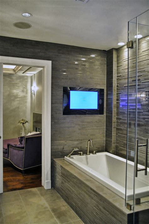 bathtub with tv porcelain bathtub bathroom contemporary with bathtub built