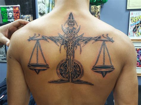 jersey tattoo horoscope libra scales tattoo