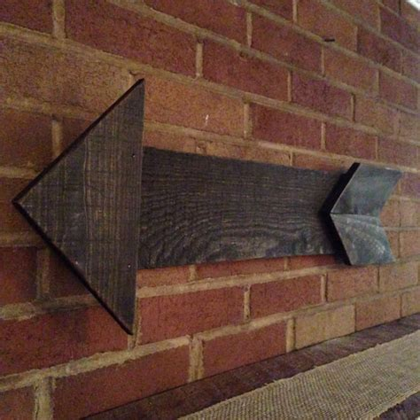 reclaimed wood arrow pallet wood home decor upcycled