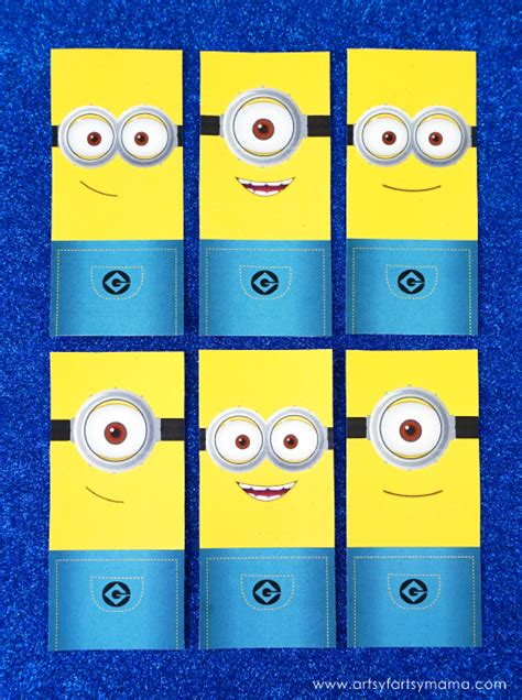 printable bookmarks minions minion bookmarks printable minions bookmarks set uma