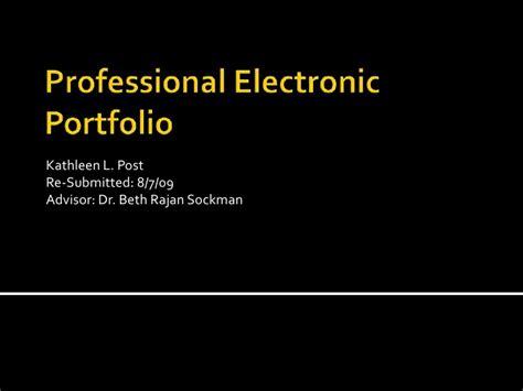 Portfolio L Post professional electronic portfolio