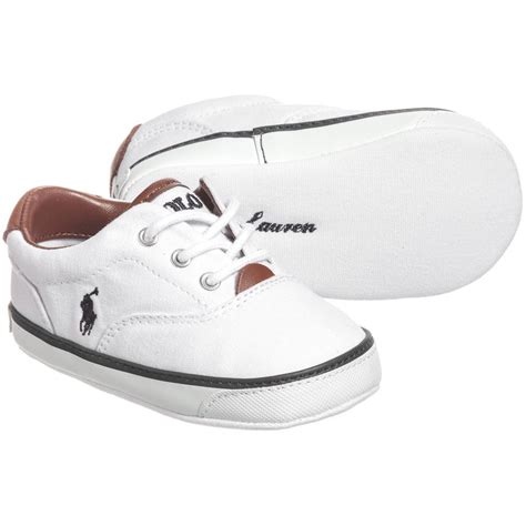 ralph baby shoes ralph baby boys white pre walker trainers