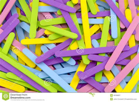 colorful popsicle colorful popsicle sticks stock photo image 49189837