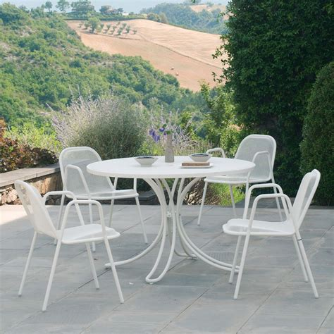 emu tavoli giardino florence r tavolo emu in metallo per giardino piano