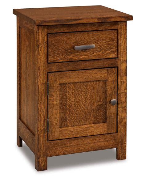 Country Mission 1 Drawer 1 - flush mission 1 drawer 1 door nightstand amish direct